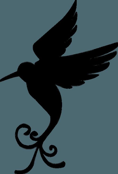 шаблон колибри