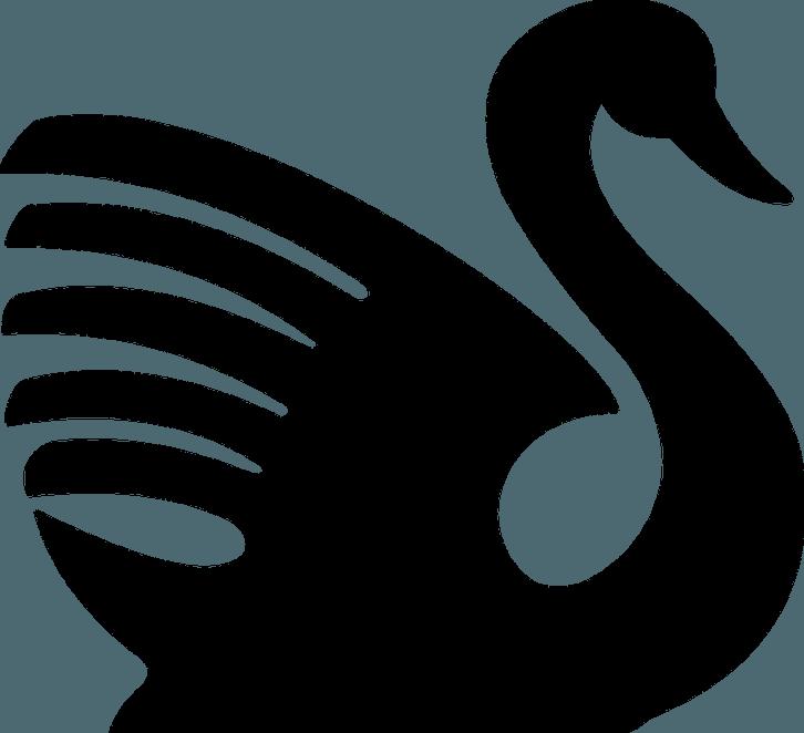 Скачать шаблон лебедя для вырезания