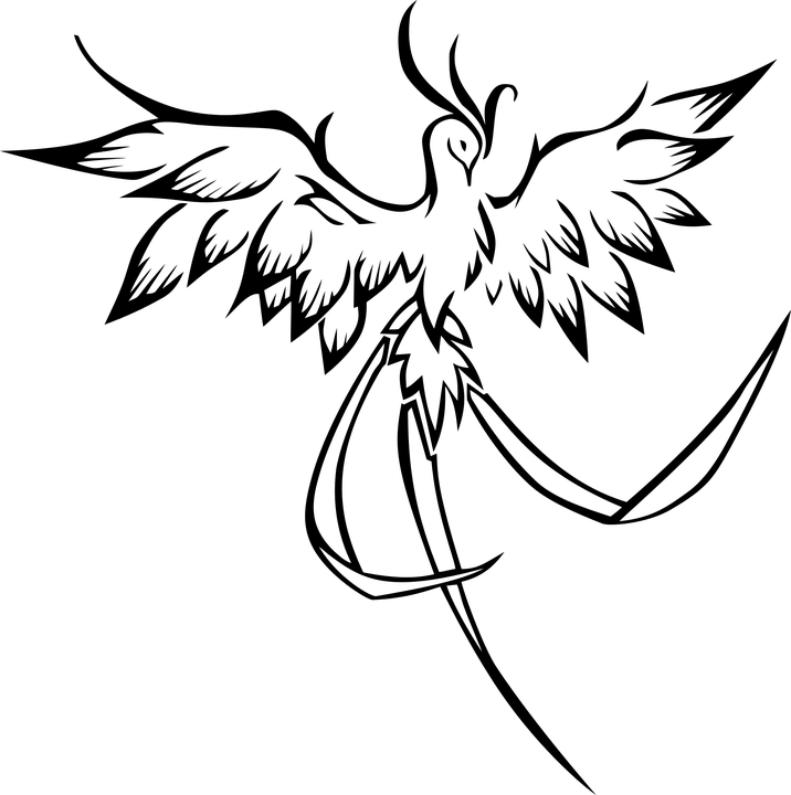 шаблон жар-птицы