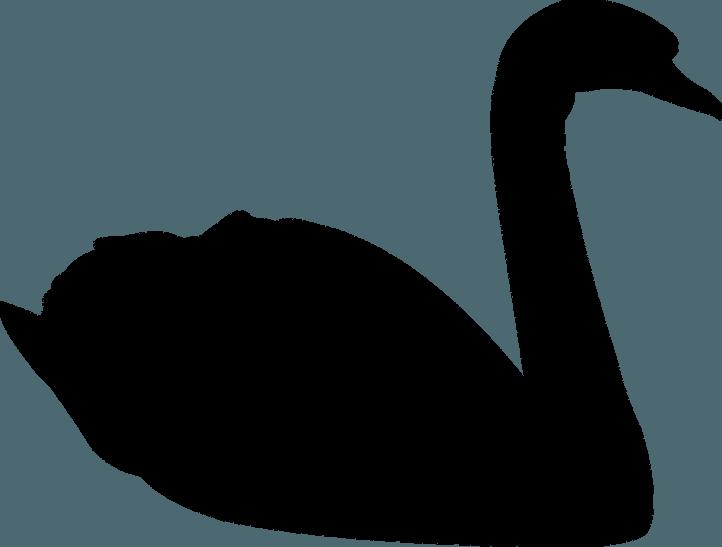 шаблон лебедя
