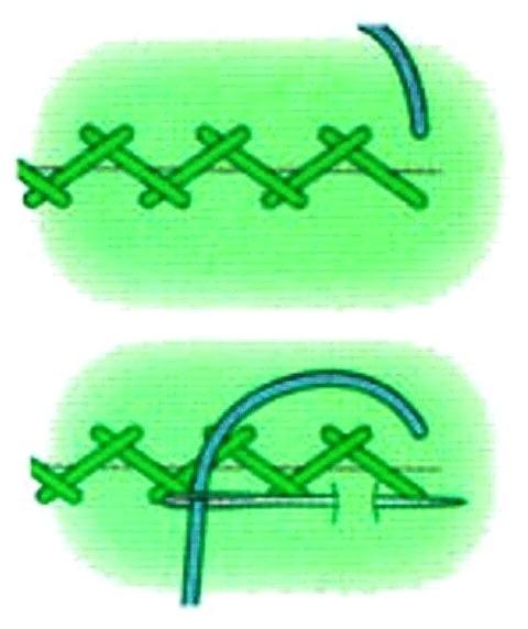 двухцветный шов схема