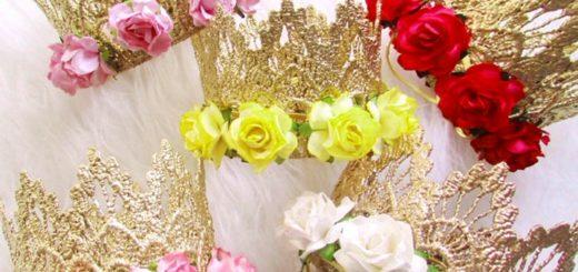 короны с цветами