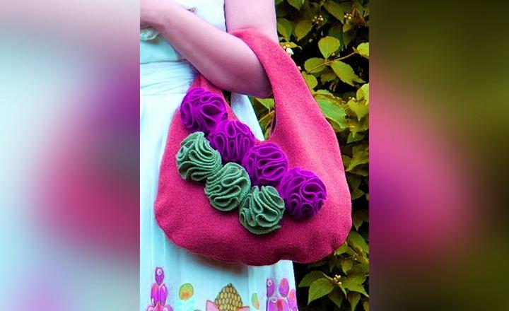 5f9286563e41 Как сшить сумку с цветами из старых вещей своими руками | 33 Поделки