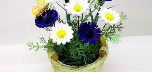 букет цветов из бумаги