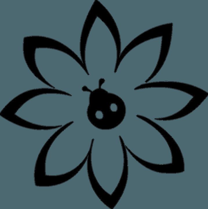 шаблон цветочка