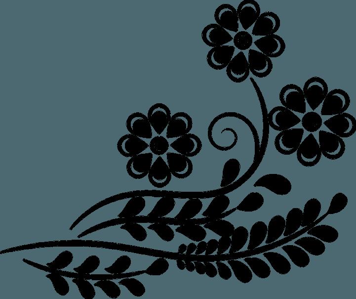 шаблон цветов