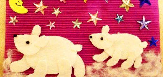 медведи из ватных дисков