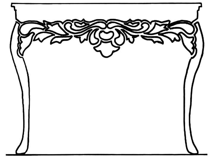 шаблон столика