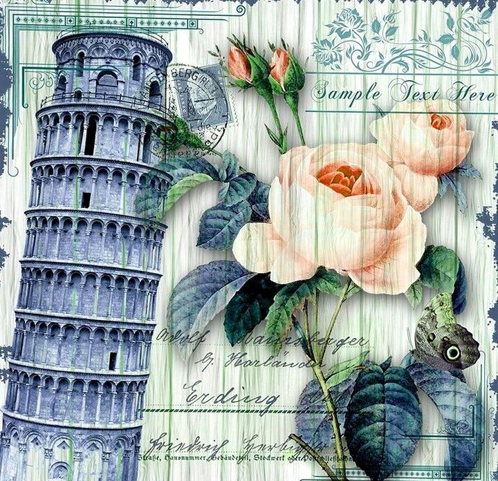 винтажная открытка