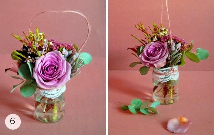подвесная цветочная композиция