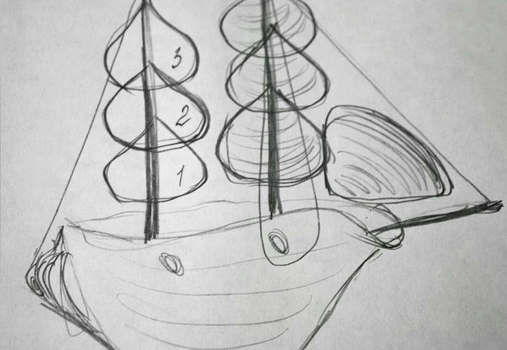 схема кораблика