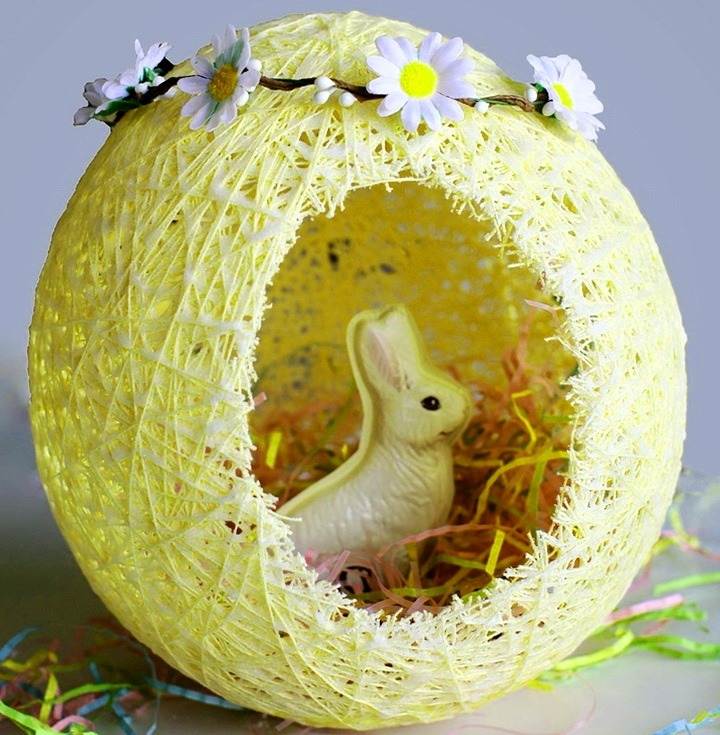 соломенное пасхальное яйцо