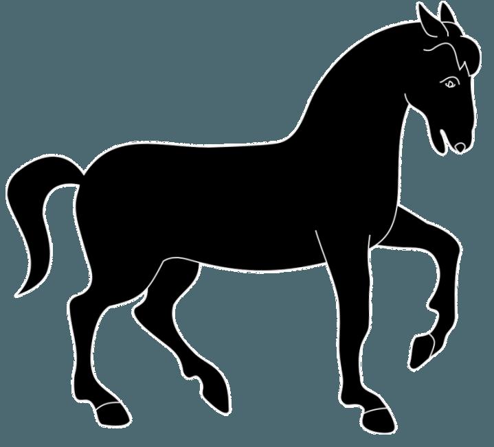 шаблон лошади