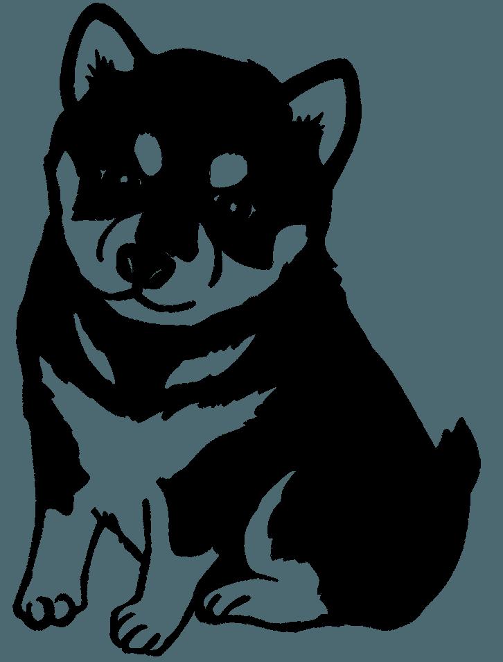 шаблон щенка