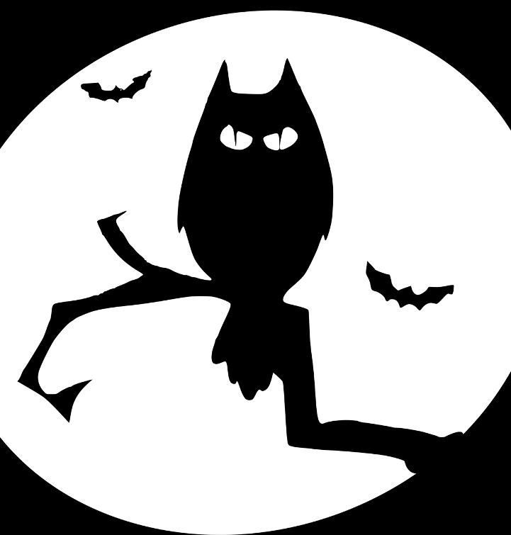 шаблон совы на хэллоуин