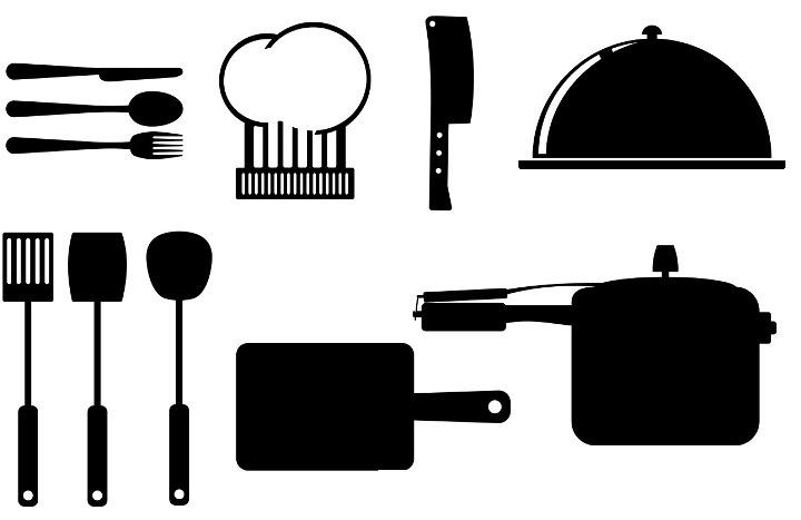 шаблоны кухонной утвари