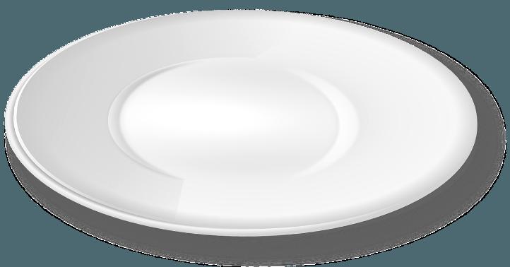 шаблон тарелки