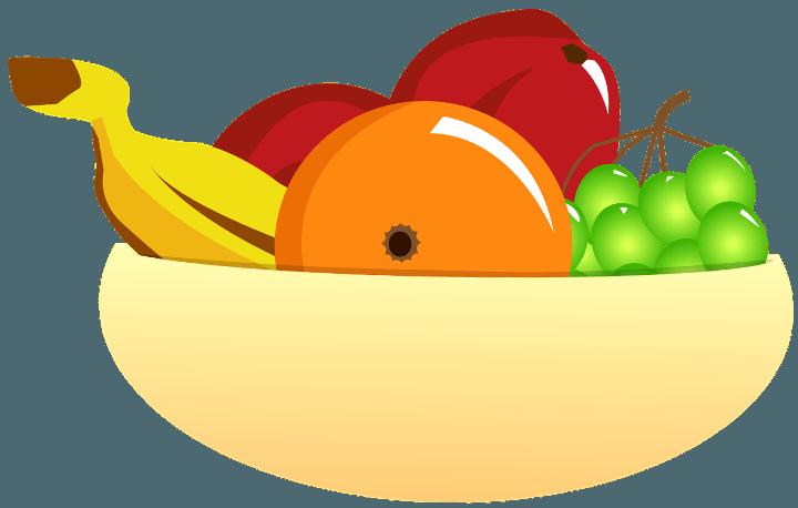 шаблон фруктовая тарелка