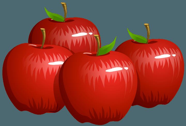 шаблон яблоки
