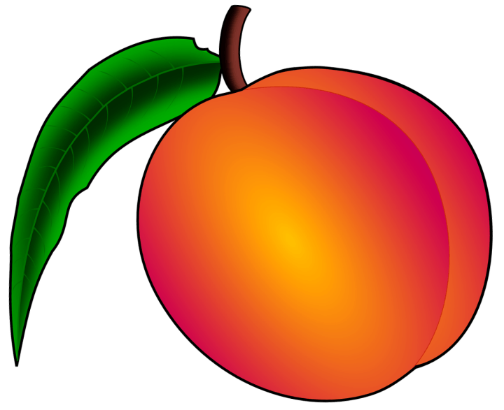 шаблон персик