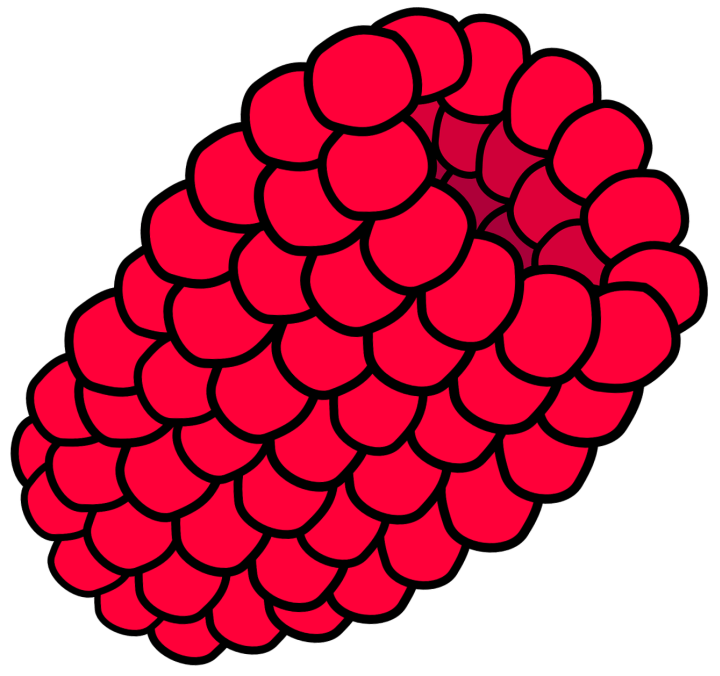шаблон малина