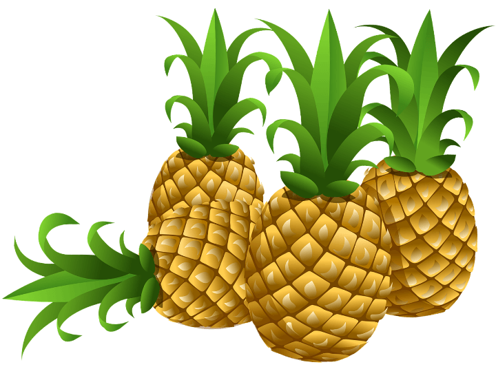 шаблон ананасы