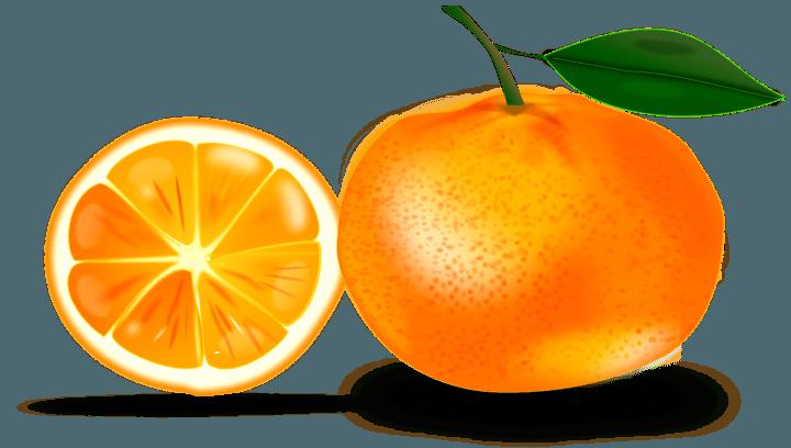 шаблон мандарин