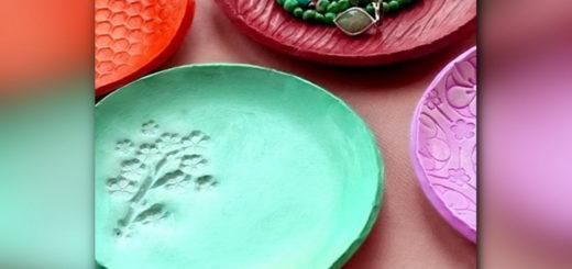 тарелки из глины