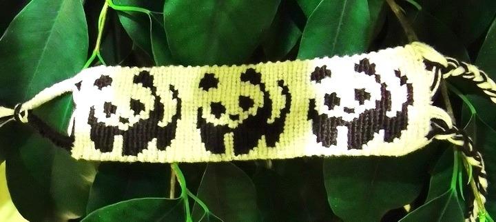 фенечка с пандами