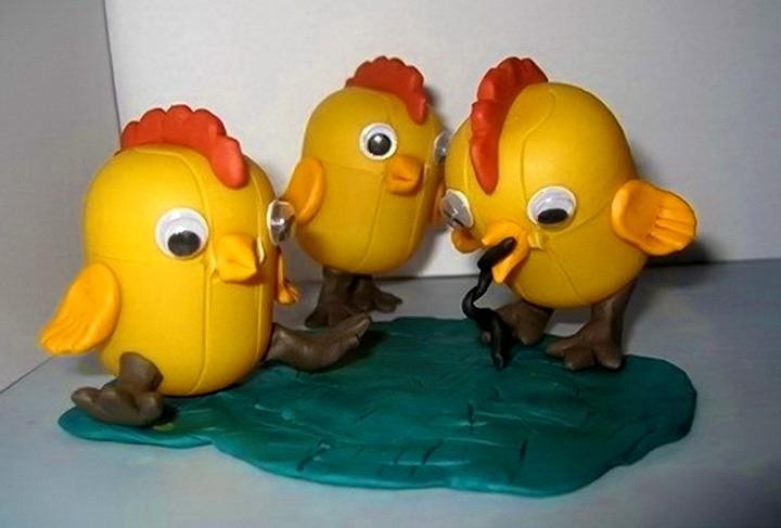 цыплята из яиц от киндеров