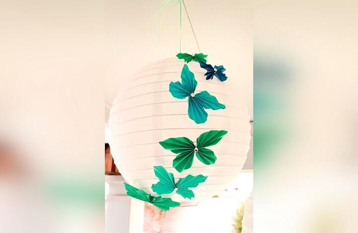 абажур с бабочками