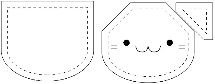 кошка-кошелек выкройка