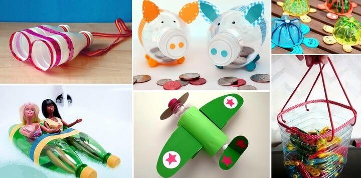 игрушки из бутылок