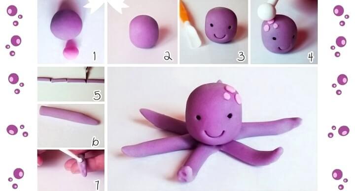 пластилиновый осьминог
