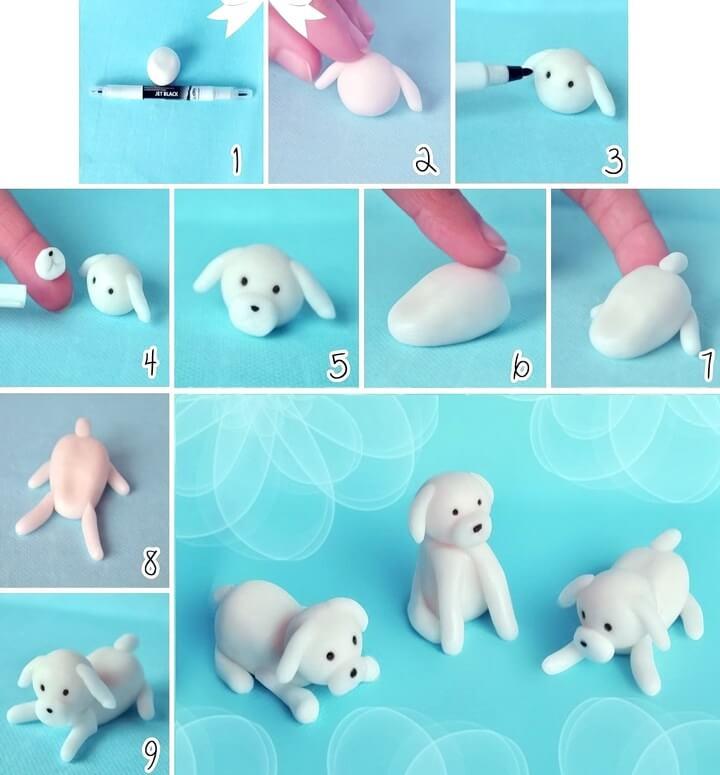 собаки из пластилина