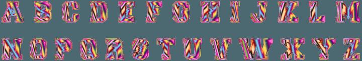шаблон английские буквы