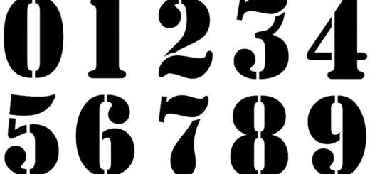 шаблоны цифр от 0 до 9