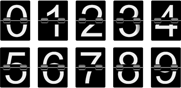 шаблоны цифр