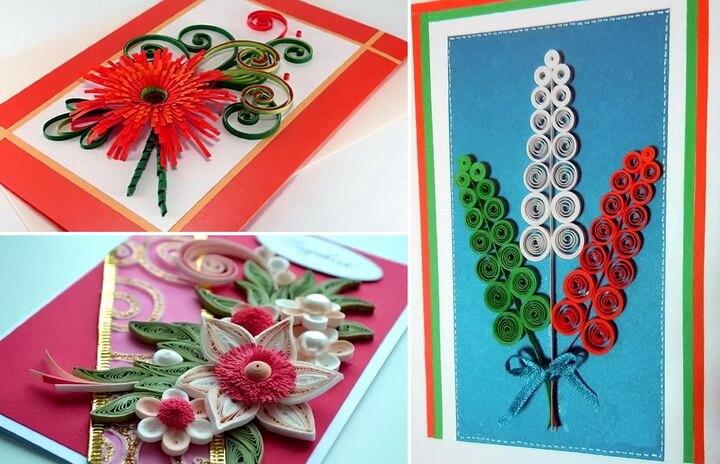 открытки в технике квиллинг