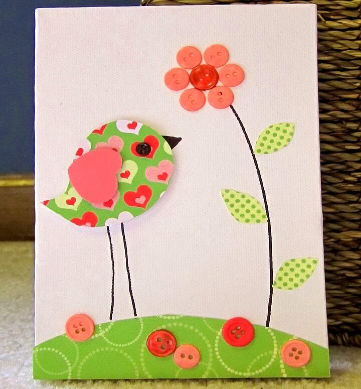 открытка с птичкой