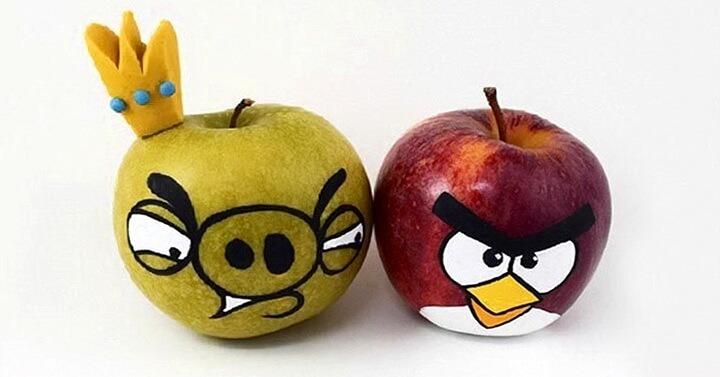 яблоки angry birds