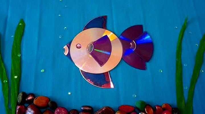 рыбка из дисков