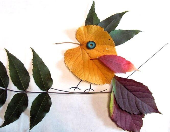podelki-iz-osennih-listev-svoimi-rukami-6 Поделки из осенних листьев своими руками, идеи с фото, мастер-классы