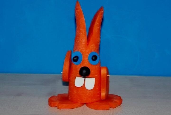 заяц из моркови