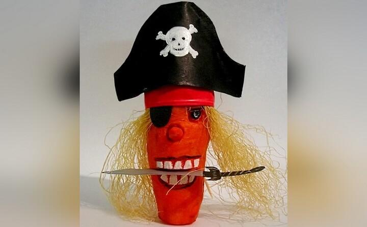 пират из моркови