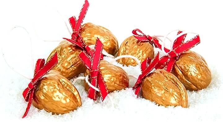 новогодние украшения из грецких орехов