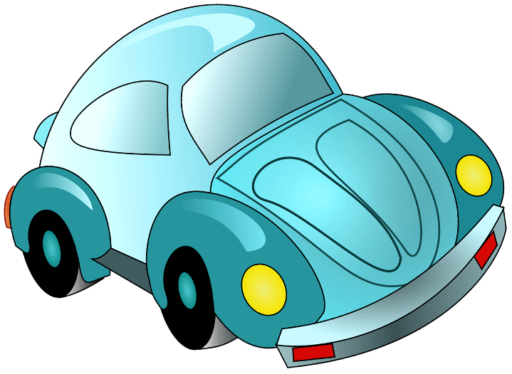 шаблон мультяшного авто