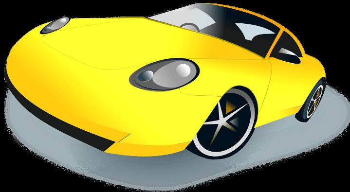 шаблон авто желтое