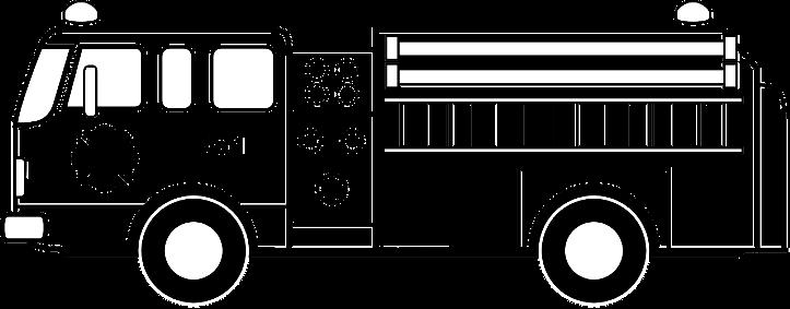 шаблон пожарная машина