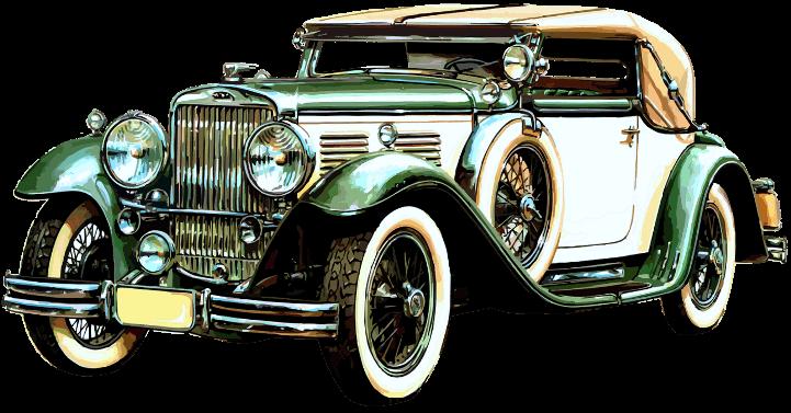 шаблон старый автомобиль